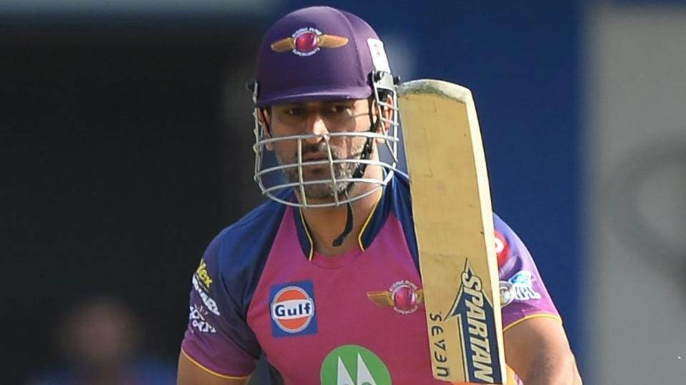 MS Dhoni in action for Rising Pune Supergiant during the 2017 Indian Premier League. He has not been in exciting form for RPS