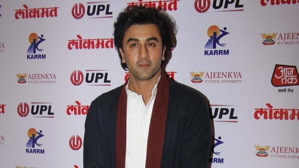 Ranbir Kapoor arrives to attend the 4th edition Lokmat Maharashtrian of The Year 2017 in Mumbai on April 11.