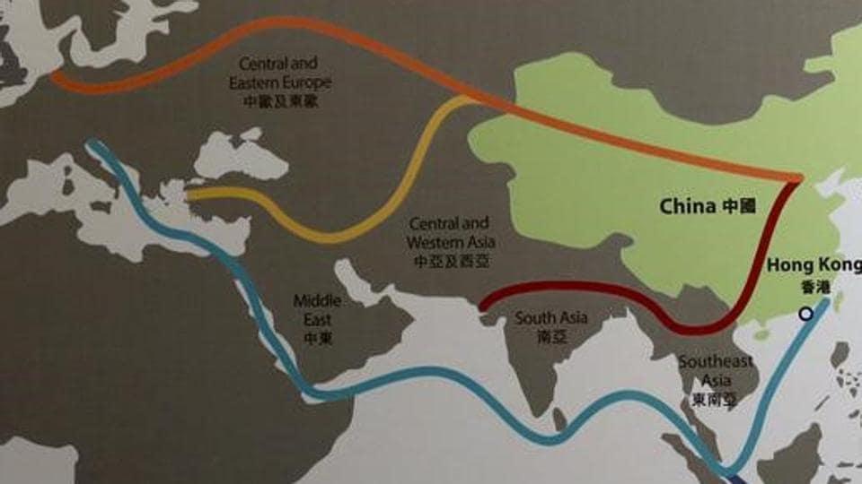 A map illustrating China's