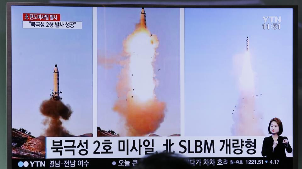 North Korea has vowed to bolster its defences to protect itself against airstrikes like the ones President Donald Trump ordered against an air base in Syria.