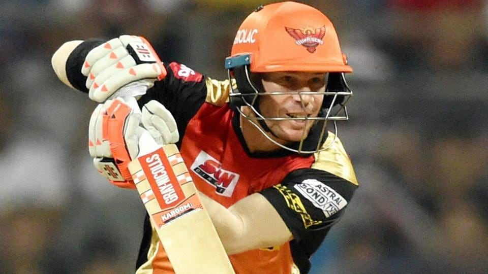 Sunrisers Hyderabad's David Warner in action during the IPL 2017 match against Mumbai Indians.