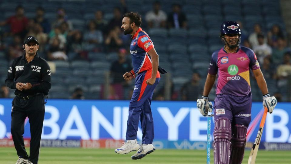 Amit Mishra joined the party as RPS continued to lose wickets at regular intervals. (BCCI)