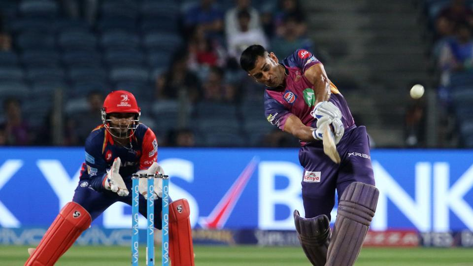 MS Dhoni tried to fight for RPS but he fell for 11 off 14 balls. (BCCI)