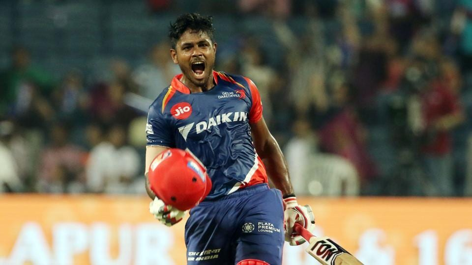 Sanju Samson slammed his maiden Twenty20 century as Delhi Daredevils secured a 97-run thrashing against Rising Pune Supergiant in the 2017 Indian Premier League. (BCCI)