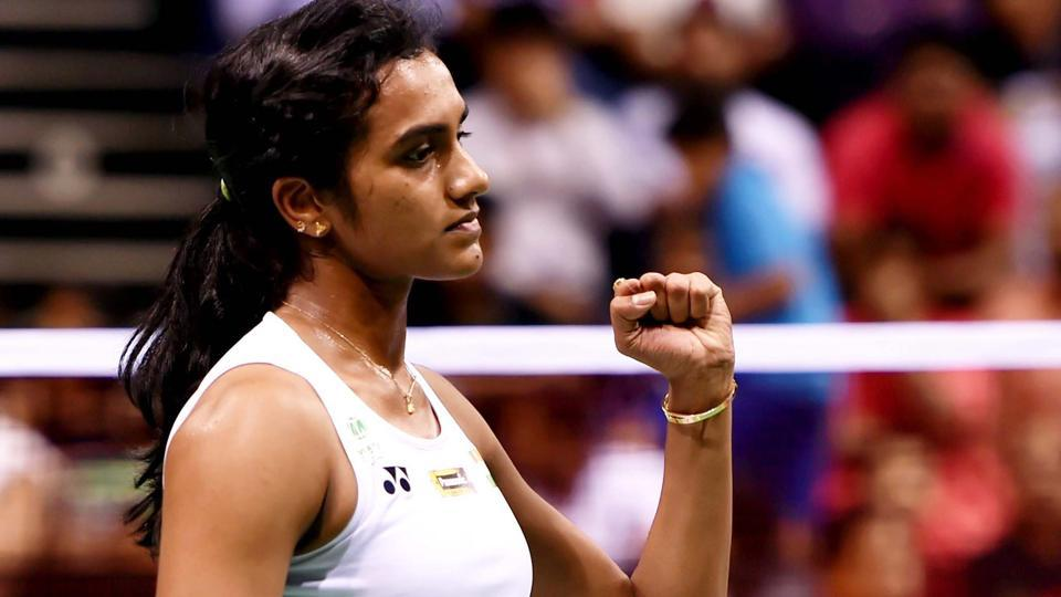 PVSindhu beat Nozomi Okuhara in the first round of Singapore Open.