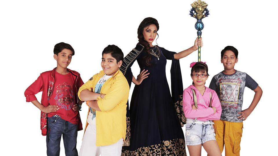A scene from Dholu & Co featuring Mouli Ganguly (centre) as a witch