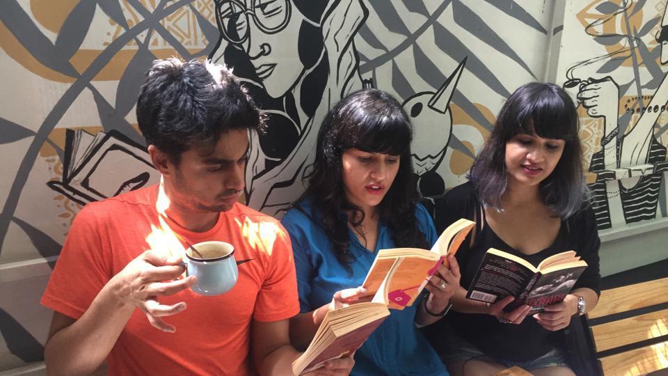 Comedian Rohan Joshi with Books on Toast co-founders Sharin Bhatti and Anuya Jakatdar.