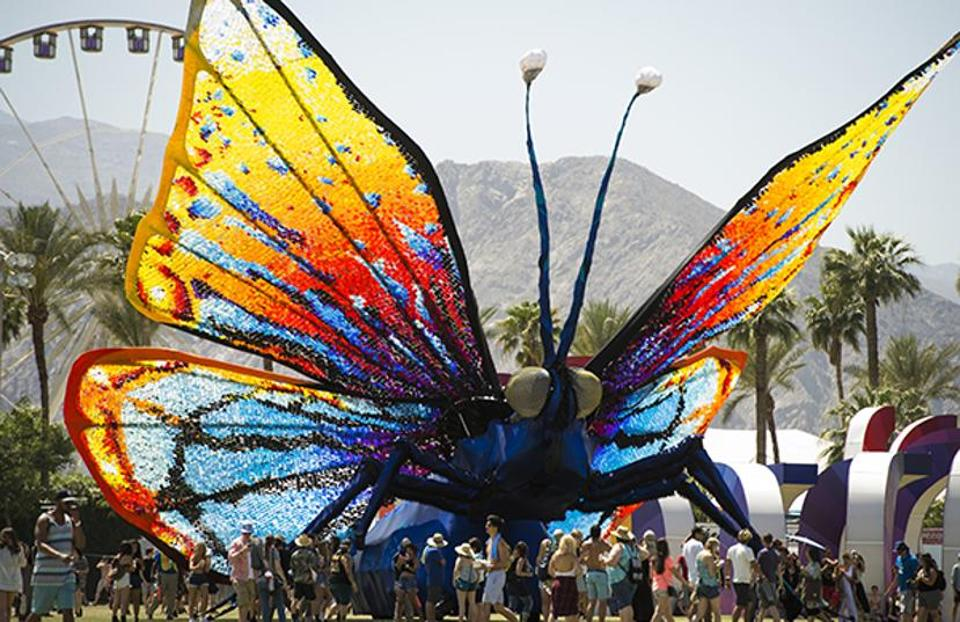he Coachella Music Festival runs over two weekends in April.