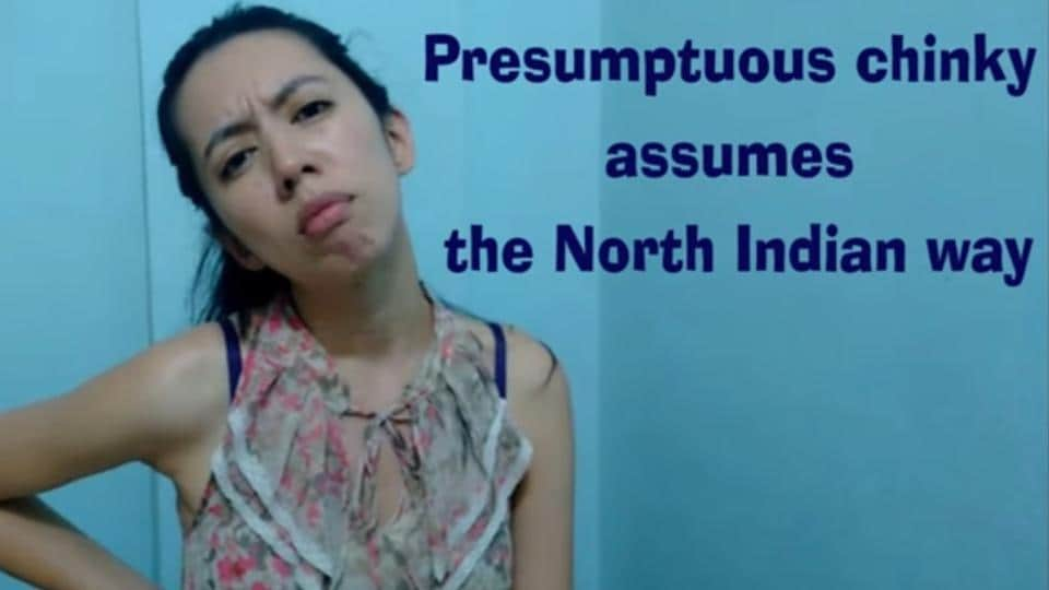A scene from the video, Presumptuous Chinky Assumes the North Indian Way