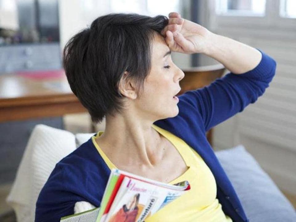 Hot flashes,heart disease,pre-menopausal women