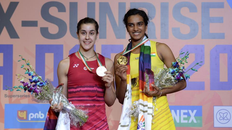 Image result for Carolina Marin dominates PV Sindhu in Singapore Open quarter-finals