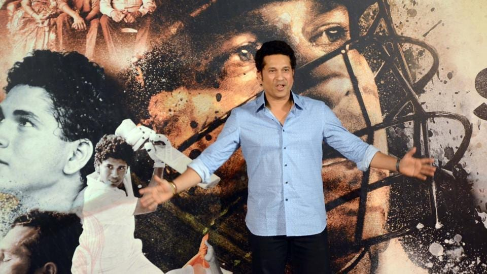 There weren't any celebrities present at the event apart from Sachin Tendulkar, his wife Anjali Tendulkar and the support staff of the upcoming movie. (IANS)
