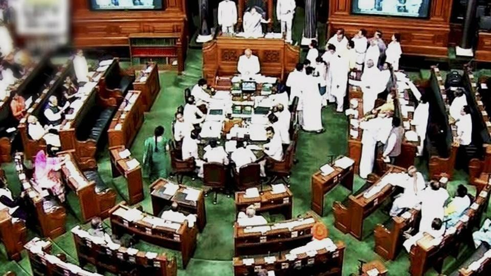 A view of the Lok Sabha during the budget session in New Delhi.