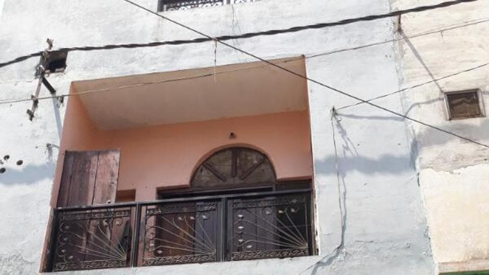 The locked house where the Muslim boy was caught with a Hindu girl on Tuesday.