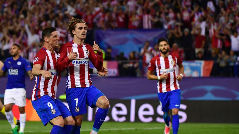 Antoine Griezmann helped Atletico Madrid beat Leicester City 1-0 in the quarterfinal of the UEFA Champions League.