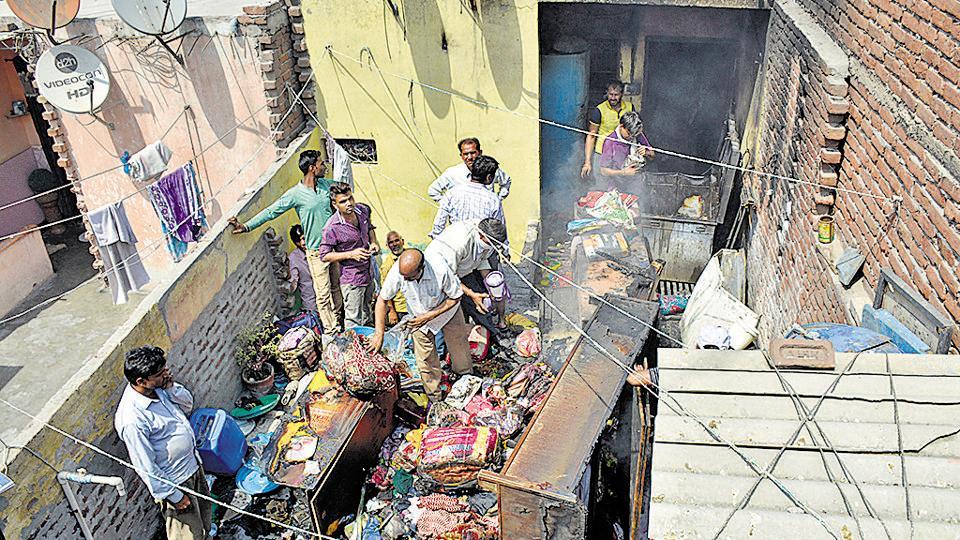 Fire,house gutted,Arthala