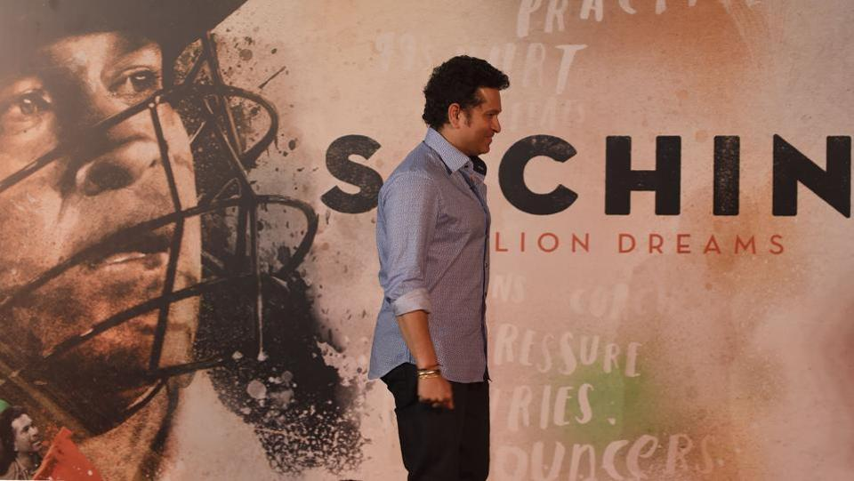 Sachin Tendulkar is all smiles at the launch of the trailer of his biopic