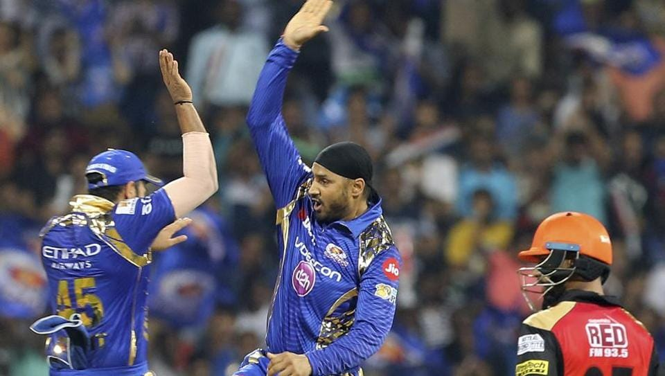 Mumbai Indians' Harbhajan Singh had a wonderful pre-Baisakhi gift as his bowling performance of two wickets for 23 helped MI beat Sunrisers Hyderabad by four wickets in an Indian Premier League (IPL) match.
