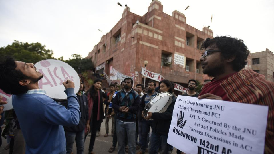 JNUTA has been at loggerheads with the administration over changes in admission policy following adoption of UGC 2016 gazette. The teachers' body claims it has led to drastic seat cut in research courses with seats coming down to around 200 this year from around 1,000 last year.