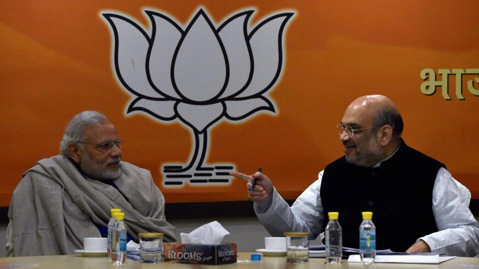 Prime Minister Narendra Modi with BJP president Amit Shah, New Delhi. (File Photo)