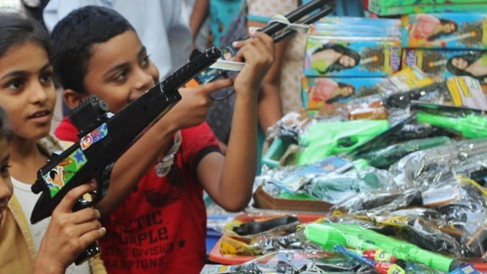 Representative Image: The masked men barged into the bank branch at around 12.15 pm and brandished toy guns which looked like pistols .
