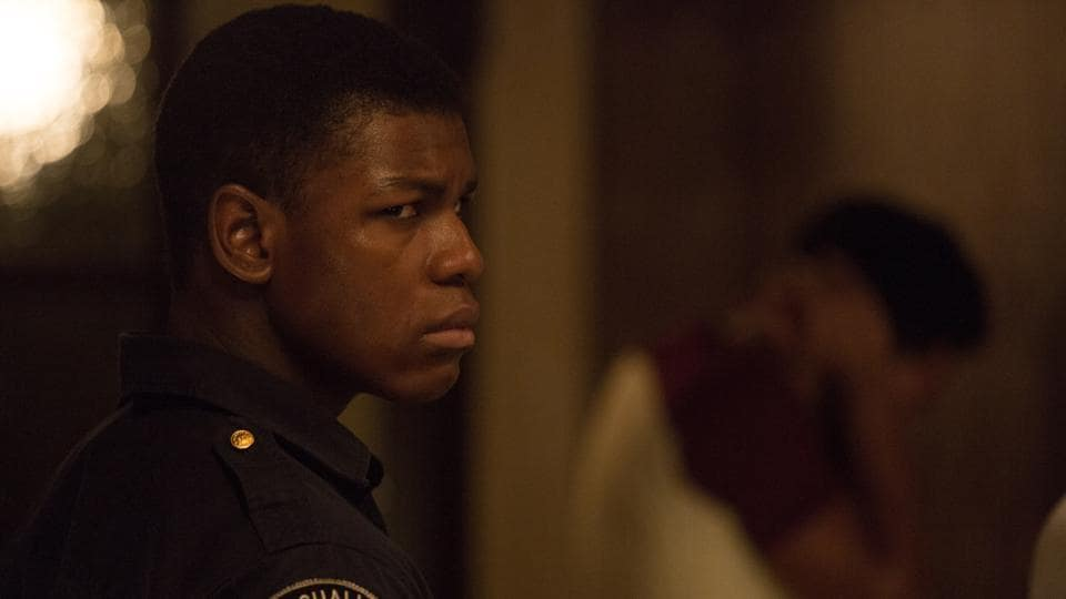 Star Wars actor John Boyega in a still from Detroit.