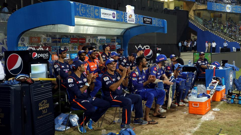 Mumbai Indians players celebrate after their victory against Sunrisers Hyderabad. (BCCI)