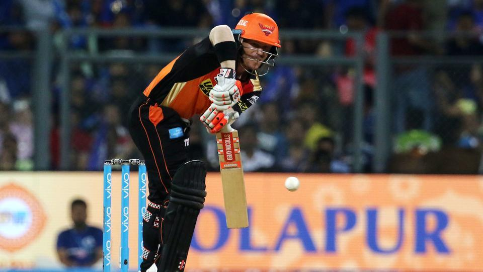 Warner got SRH off to a cautious start and slowly started to deal in boundaries.  (BCCI)