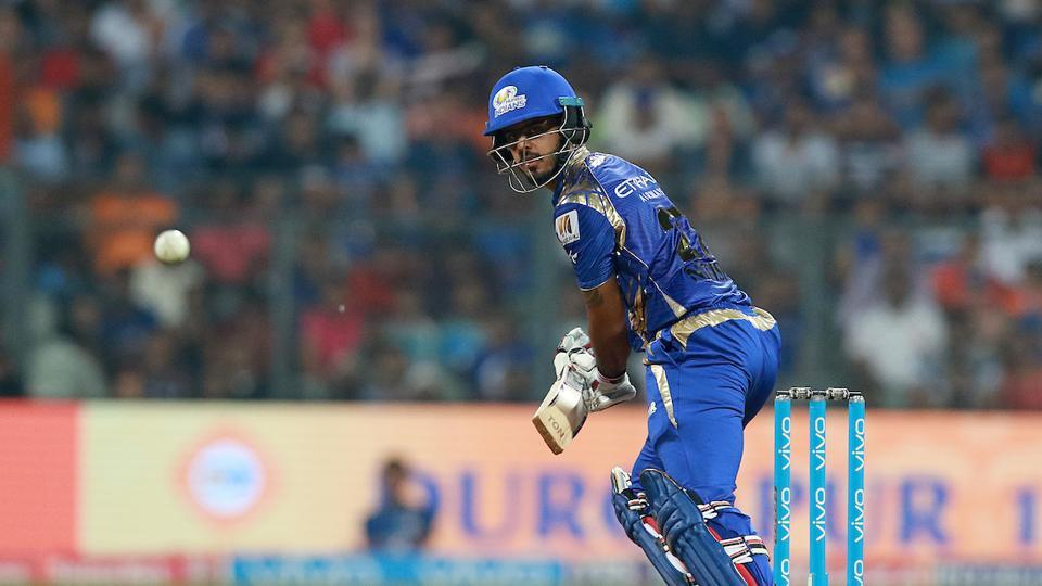 Nitish Rana, the star of MI's win over KKR, stabilised the innings after Parthiv's departure. His shot selection was upto the mark.  (BCCI)