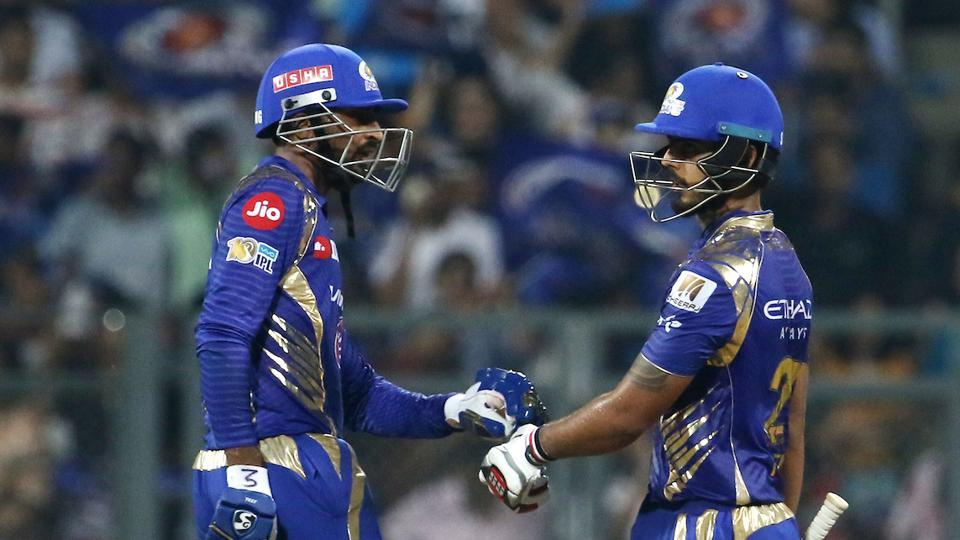 With Kieron Pollard's dismissal, things might have got a little tricky for MI but Krunal Pandya's quickfire 20-ball 37 turned the game completely in hosts favor.  (BCCI)