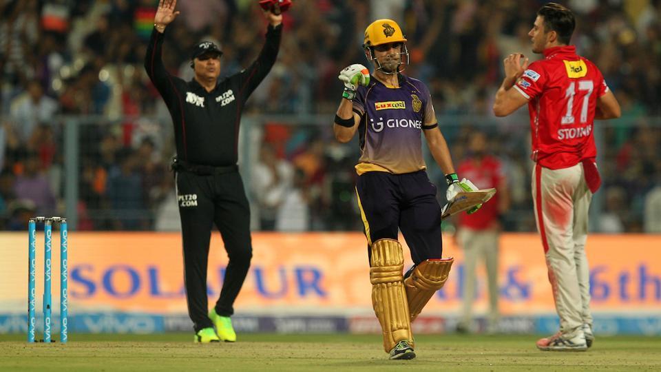 Gautam Gambhir's unbeaten 72-run knock guided Kolkata Knight Riders to a eight-wicket win over Kings XI Punjab in 2017 Indian Premier League