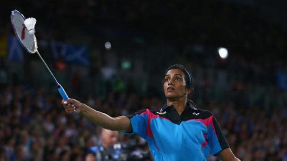 PVSindhu lost in the quarterfinals of the Singapore Open Superseries as Carolina Marin registered a 21-11, 21-15 victory.