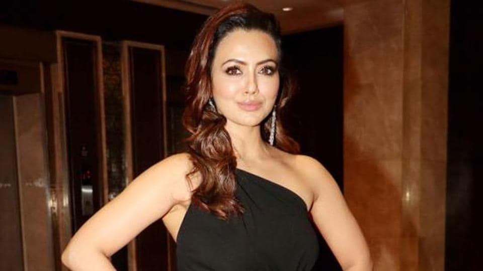 Actor Sana Khan says that she was a little 'scared' when shooting for a very intimate scene.