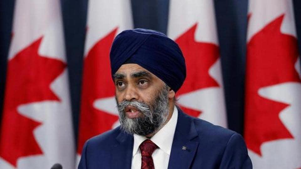 Canadian defence minister Harjit Sajjan.