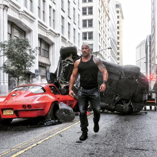 The franchise's overall theme of loyalty to friends and family is undermined by a techno-terrorist and it's now up to the team of racing buddies,  including  a former federal agent played by Dwayne 'The Rock' Johnson, to save the world.