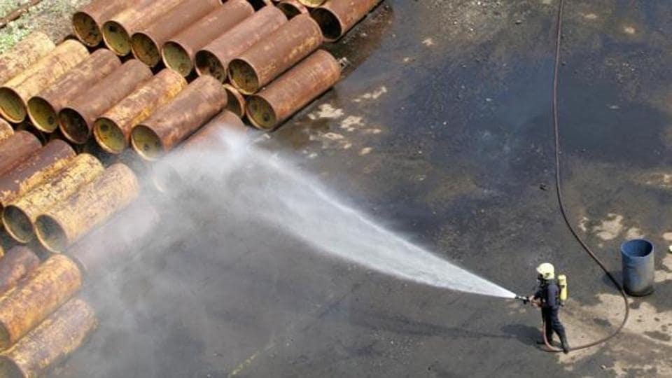 Chlorine gas leak,Gujarat village,Por village