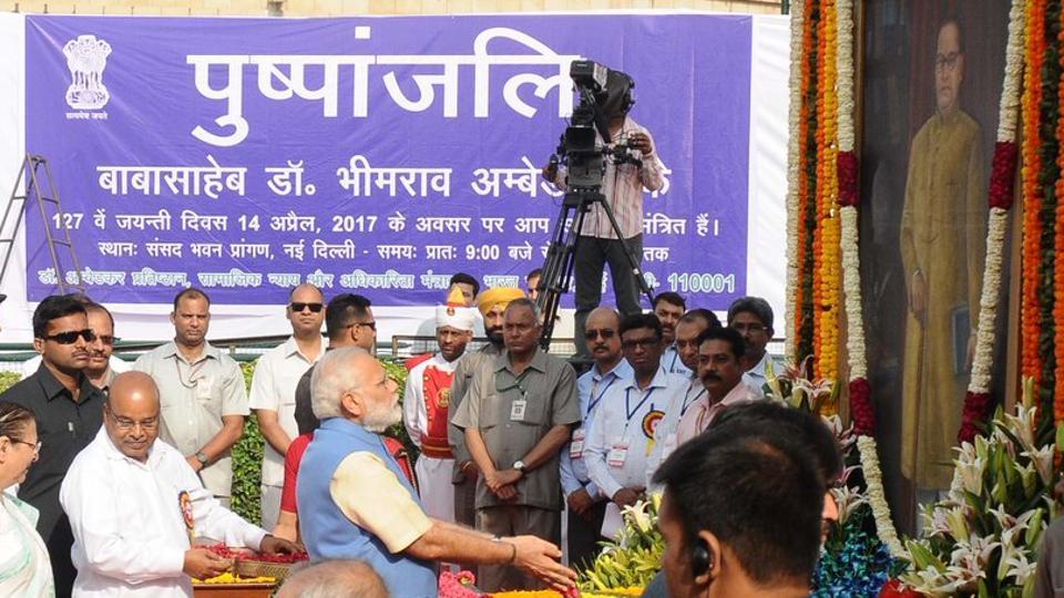 Prime Minister Narendra Modi at Deekshabhoomi, Nagpur.