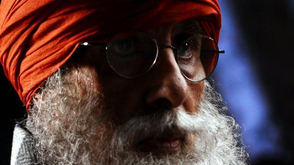 Amitabh Bachchan's new look for an advertisement.