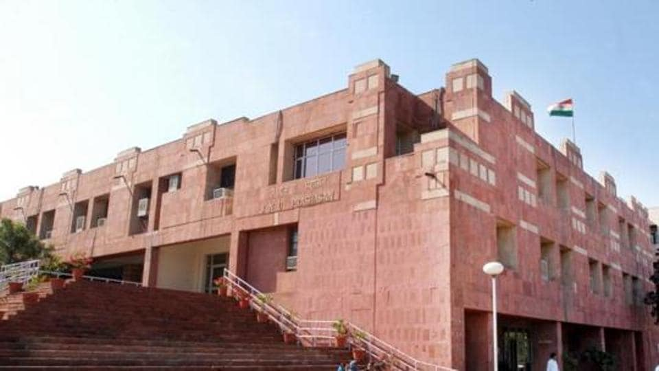 JNU students on Friday protested 'massive seat cuts' in research courses after adoption of a UGC gazette that caps the number of students a teacher can guide.