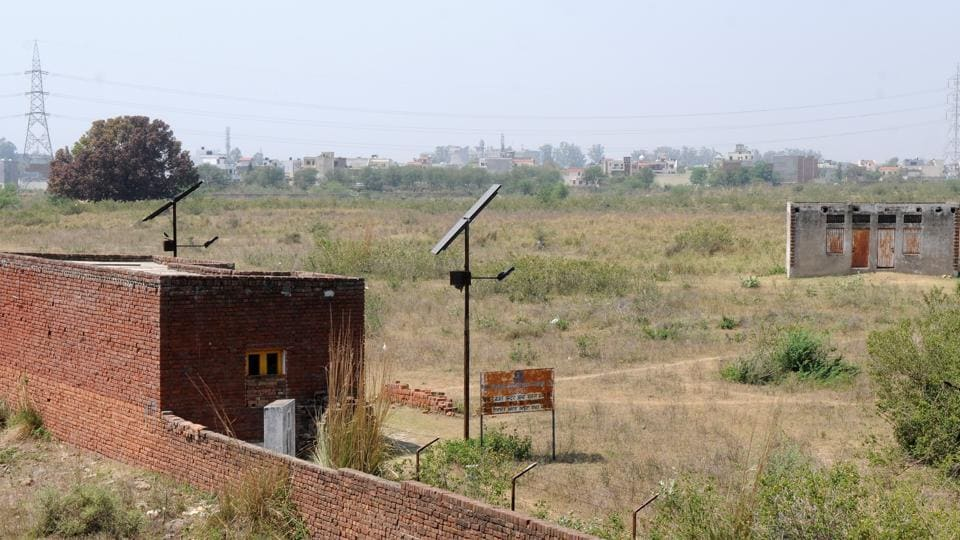 Tata Camelot housing project site at Kansal on the outskirts of Chandigarh.
