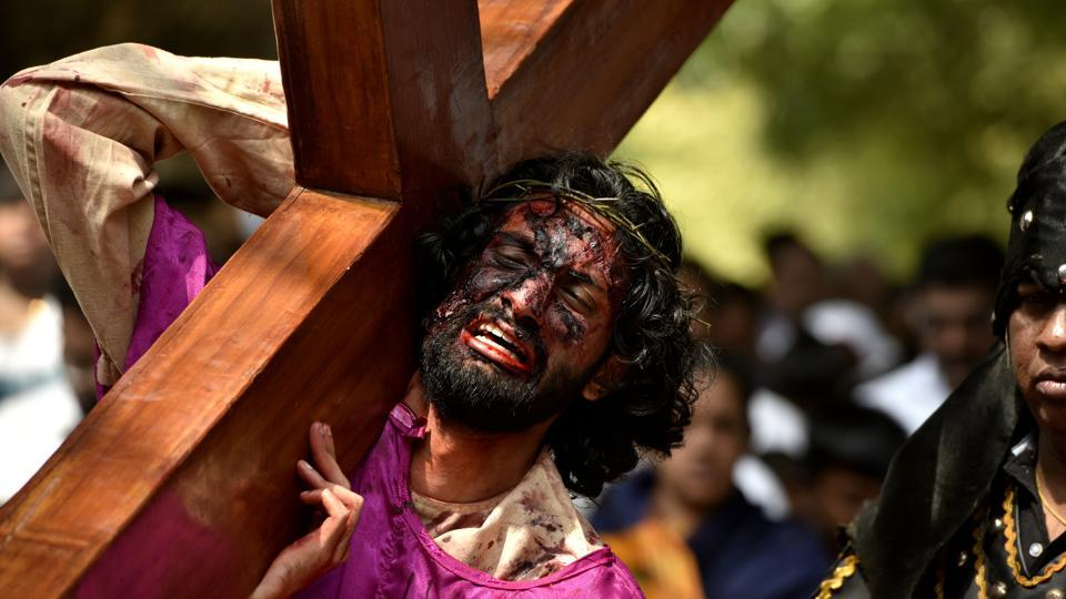 The etymology of the term 'good' in Good Friday is contested in various circles. While some say 'good' means holy, others say that it is a modification of 'God Friday. (Arijit Sen/HT Photo)