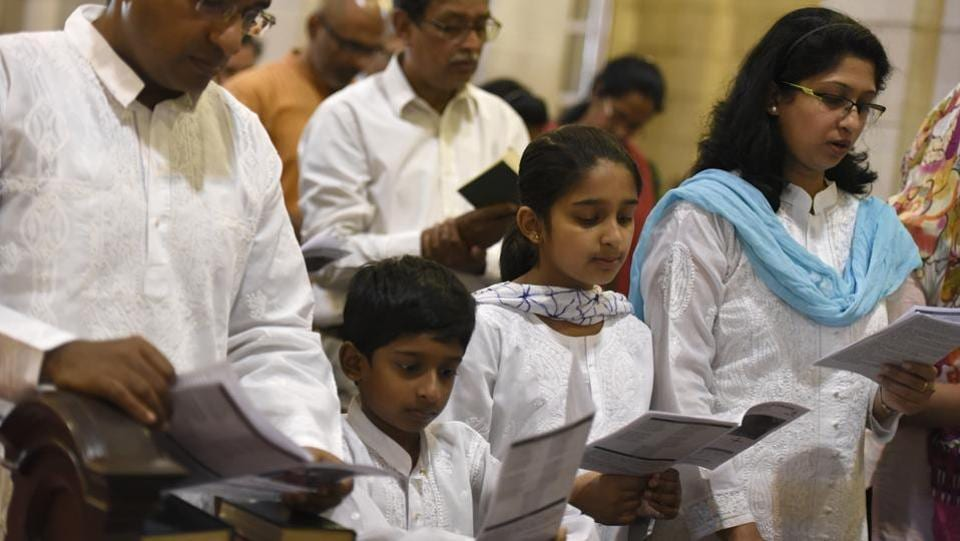 Churches observe the day with a service that normally takes place in the evening, where they remember Christ's death with hymns, thanksgiving prayers, talk about the special significance that the day holds and observe the Lord's Supper. (Saumya Khandelwal/HT PHOTO)