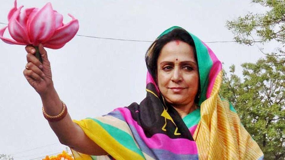 Member of Parliament Hema Malini.