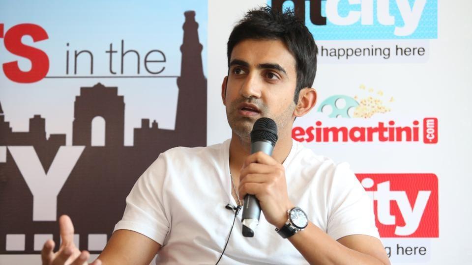 Indian cricketer Gautam Gambhir.