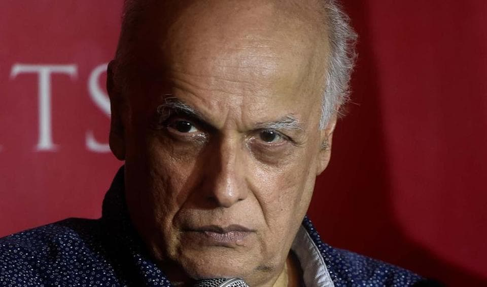Film producer Mahesh Bhatt interacting with the media in Amritsar on Friday, April 14.