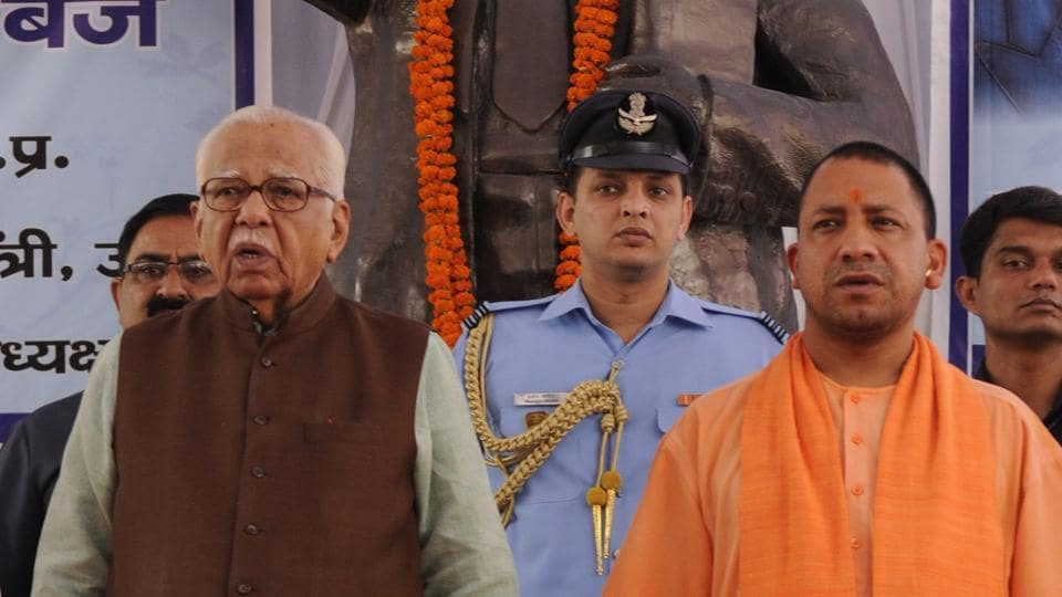 UP Governor Ram Naik along with CM Yogi Adityanath paying tribute to  Dr Baba Saheb Ambedkar on his 126 the birth anniversary in Lucknow.