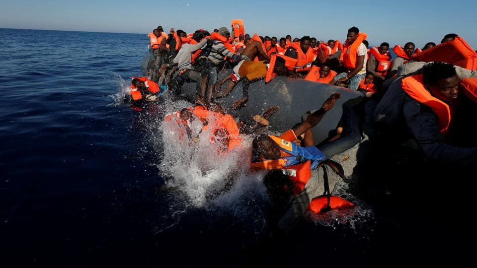 The International Organization for Migration reports a large number of Sub-Saharan Africans, mainly from Nigeria, Mali, Gambia, and Senegal has been arriving in Italy this year. The IOM says most of the migrants are coming from Libya on overcrowded rubber dinghies. (Darrin Zammit Lupi / Reuters)