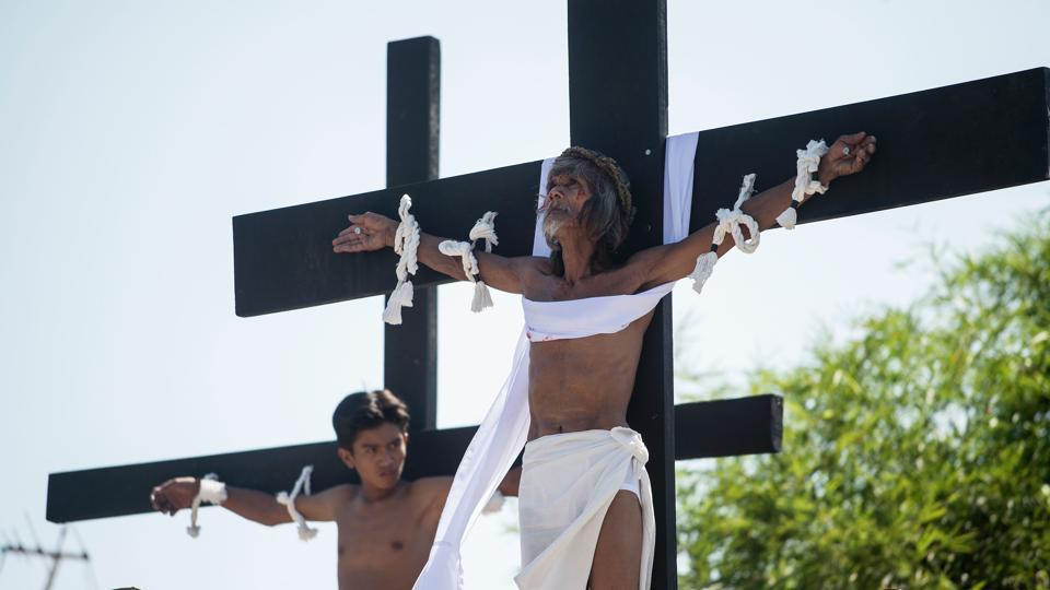 On Sunday after this comes Easter, when the resurrection of Jesus is celebrated. Christians also observe Lent - a period of 40 days, except Sundays - that begins on Ash Wednesday and ends on Easter Sunday. (Noel Celis/AFP)