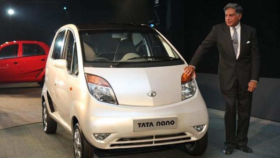 Tata company chairman Ratan Tata during the launch of Tata Nano in New Delhi.