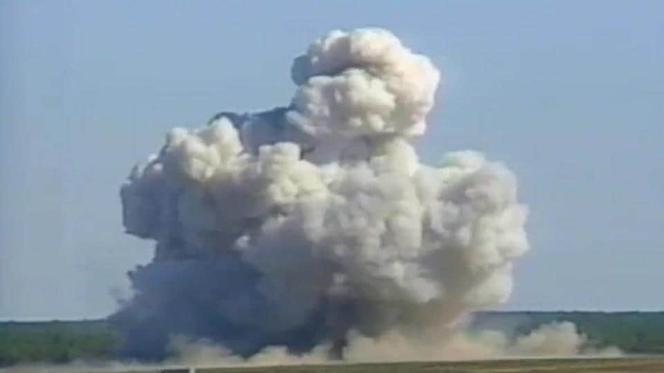 The United States dropped a massive GBU-43 bomb in eastern Afghanistan on Thursday against caves used by Islamic State militants.